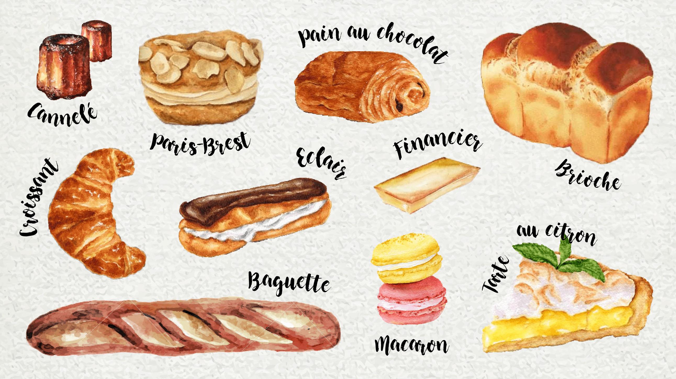 El abc de la panader a y pasteler a francesa for Comidas de francia nombres
