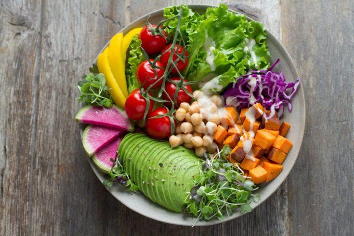 plato vegano colores