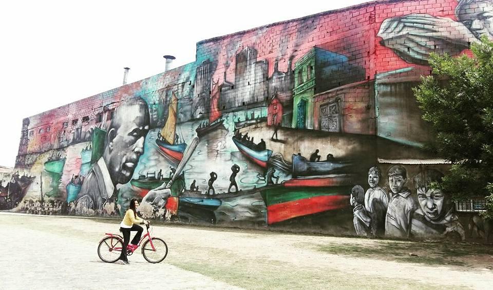 Le mural le plus grand du monde à barracas par alfredo segatori