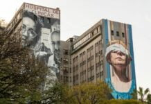 Arte de muralistas Martin Ron y Mariela Ajras