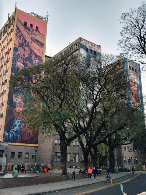 artistas callejeros mural mariano antedomenico amia