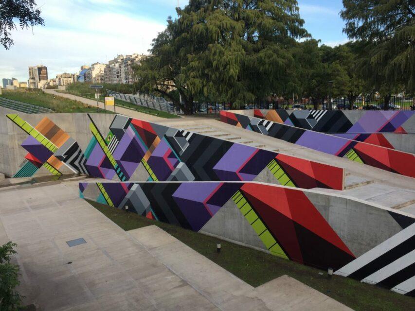 artista callejero plaza brasil facultad de derecho mural nasepop